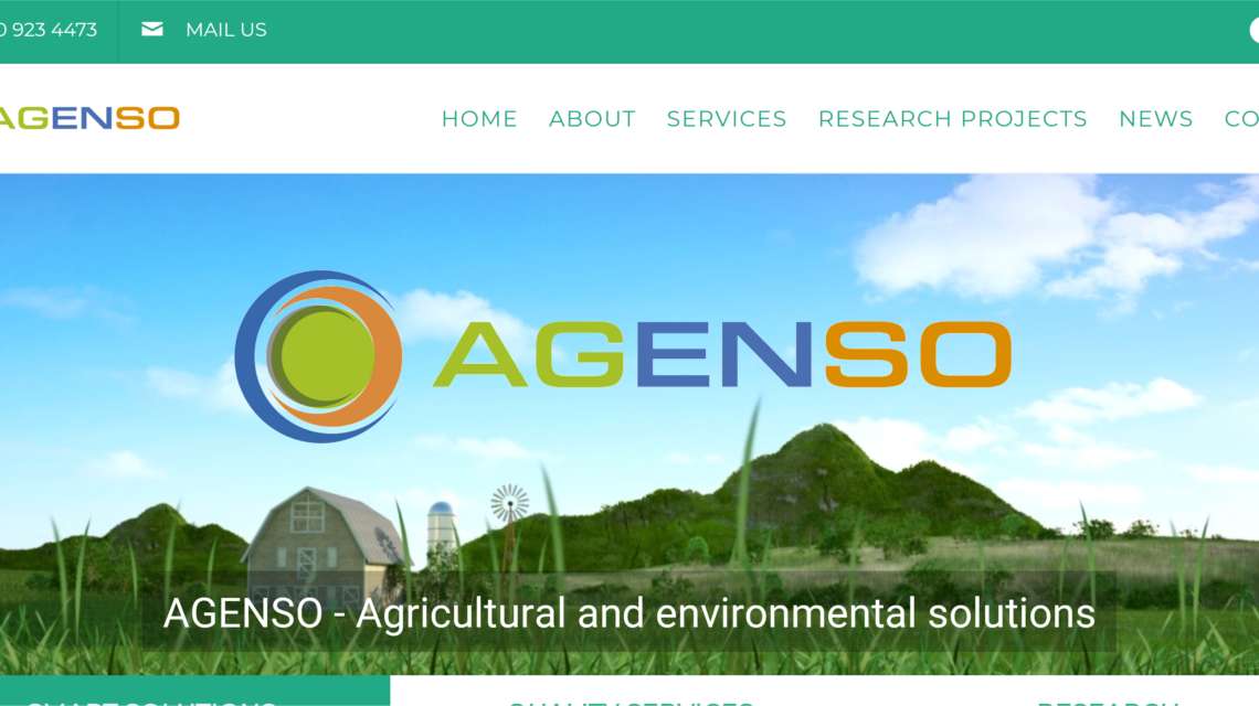 AGENSO new site snapshot